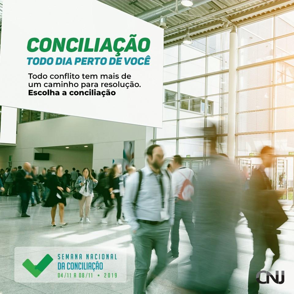 Semana de Conciliação 04 a 11/11/2019